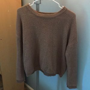 Cropped light pink sweater